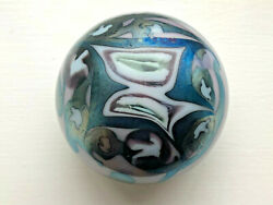 Vintage Signed Richard Ritter Glass Iridescent Paperweight