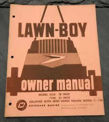 1960and039s Lawn-boy 5150 7150 Canada Lawn Mower Ownerand039s Manual Johnson Evinrude