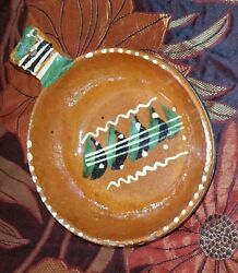 Vintage Mexican Handmade Salsa Soup Bowl Pottery Red Clay Hand Painted Primitive