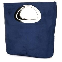 Women#x27;s Evening Clutches Handbags Blue Clutch Purse Fashion Folding Bucket Bag $29.44