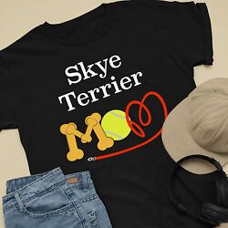 Skye Terrier Dog Mom and Dad Comfy Cute Dog Lover T-Shirt