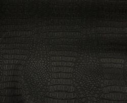 SHIPS FOLDED Vinyl Faux Leather Black Matte Gator Upholstery Home Fabric 55quot;