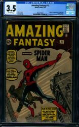 Amazing Fantasy #15 CGC VG- 3.5 with offwhite pages