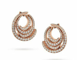 2.10ct Natural Round Diamond 14k Solid Rose Gold Screw Back Stud Earring