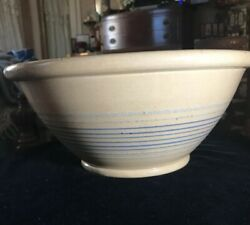 Antique Yellow Ware 1800's Jeffords Mixing Bowl
