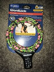 Wordlock Flexible Steel Cable Resettable Bike Cable Lock 6 Foot Security