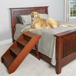 PetSafe Solvit PupSTEP Wood Pet Stairs for Dogs and Cats Foldable X-Large 62352