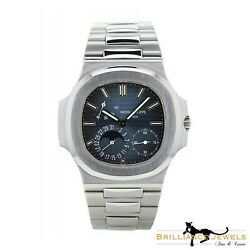Patek Philippe 57121A Nautilus Steel Watch Date MoonPhase BoxPapers (P-2)