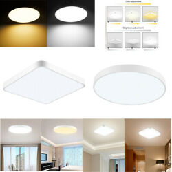 20W-48W LED Ceiling Light Dimmable Bedroom Ultra Thin Panel Fixtures Flush Mount