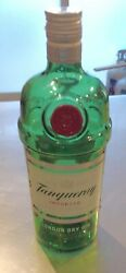 Empty Tanqueray Gin Bottle, 1 Liter, Arts And Crafts, Improve The Bar Cart