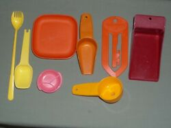 8 Vintage Tupperware Kitchen Gadgets Hostess Party Gifts Lot Scoops Magnet