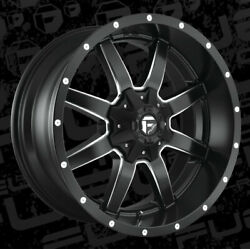 22x10 Fuel D538 Maverick 8x165.1 Et10 Black And Milled Wheels Set Of 4