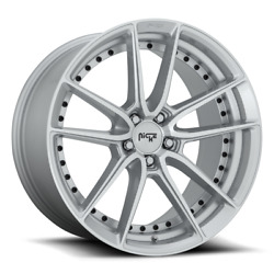 19x8.5 Niche Wheels M221 Dfs 5x114.3 Et35 Silver And Machined Wheels Set Of 4