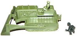 Ideal Reissue Plastic Military Bulldozer With Marx Seated Us Marine Toy Soldier