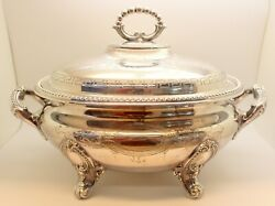 Vintage Antique Silver Plated Soup Tureen