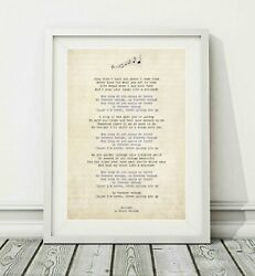 597 Dixie Chicks - Lullaby - Song Lyric Art Poster Print - Sizes A4 A3