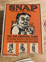 Vintage Jaques Of London Snap Card Game , Complete