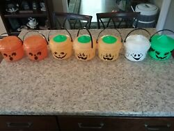 Vintage Mcdonald's Halloween Happy Meal Buckets, Used New Condition 1985 And 1986