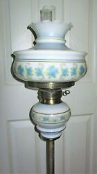 Vintage Quoizel Gwtw Hurricane Floor Pole Lamp Betsy Ross Glass Shade Very Rare