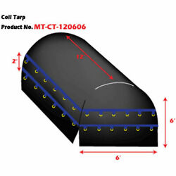 New Heavy Duty Flatbed Truck Tarp Coil Tarp 12and039 X 6and039 X 6and039 Black