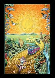 Grateful Dead Golden Road Poster in a Black Poster Frame 24x36 24508 PSA0...