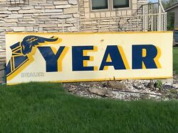 3 Sections Goodyear Foot Gas Station Sign Vintage 10'x3'