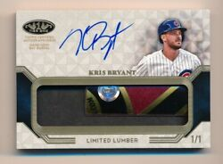 2018 Tier One Kris Bryant Game Used Rc Year Bat Barrel Auto Mlb Auth 1/1
