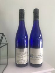 """Cobalt Blue Wine Bottles 4 Empty Used 750 Ml - Home-brew Or Crafts 12.5"""" Tall"""