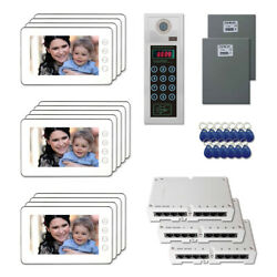 New Home Access Door Entry Video Intercom System Kit With 13 7 Color Monitors