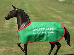 AFLEET ALEX TB embroidered blanket Breyer thoroughbred race horse