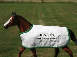 JUSTIFY triple crown TB embroidered blanket Breyer thoroughbred race horse