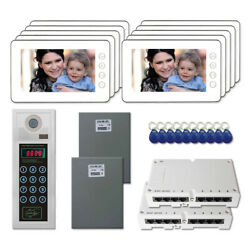 Office Access Camera Panel Video Intercom System Kit With 10 7 Color Monitors