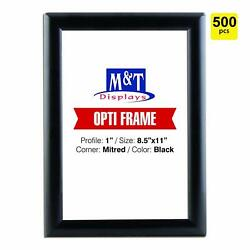 8.5x11 Snap Frame For Wall Mount Snap Open Frame 1 Profile - Black