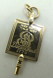 10k Yellow Gold Yale Fraternity Pendant 34x17mm 5 Grams M1126