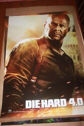Original Movie Poster Live Free Or Die Hard Style A Int'l Teaser Ds 1sh 2007