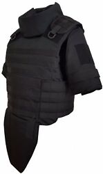 Xl Long Black Full Body Armor Plate Carrier Molle Vest Iiia Made With Kevlar Inc
