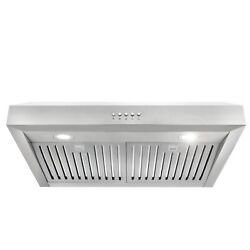 30 In Under Cabinet Range Hood Open Box Stainless Steel Permanent Filters Led