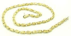 14k Yellow Gold Knotted Rope Link Chain Necklace 17 Inch 3.7mm 18.3 Grams M1233