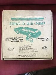 Vintage Early 1960's Rare Automobile Strat-o-air-pump Tire Inflation Kit + Box