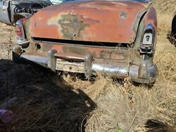 1954 Chrysler Imperial Rear Bumper Complete With Guards Exclude Brackets Oem
