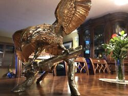 Brass Eagle Stunning Bright With 36 Inch Wingspan