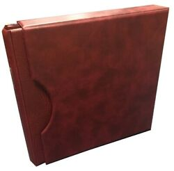 High Quality Banknote Bill Album 20 Pages And Slipcase Red Lindner Collector Gift