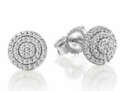 1.68ct Natural Round Diamond 14k Solid White Gold Stud Earring Screw Back