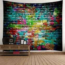 Hippie Tapestry Colorful Brick Tapestries Wall Hanging Bedspread Blanket Decor