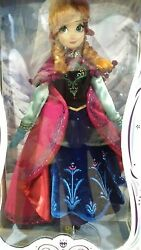 Disney Store Limited Edition Anna Doll 17 Le 5000 Dvd Release Nrfb