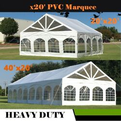 20and039x20and039 40and039x20and039 - Pvc Marquee Party Wedding Canopy Tent Shelter W Storage Bags