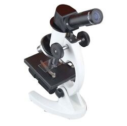 Student School Lab Led Cordless Inclined Biology Kids Microscope W Batteries