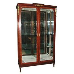 French Empire Cabinet With Glass Doors 19th C. 5650