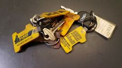 Vintage Ramos Oil Company Key Chains With Misc Keys Ford And Other