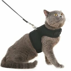 Escape Proof Cat Harness with Leash - Holster Style Adjustable Soft Mesh Small